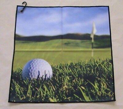 Digital Print Microfiber Suede Golf Towel 16