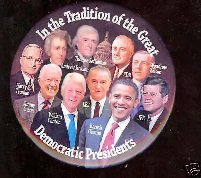 Obama Pin Kennedy Roosevelt Truman Wilson Etc 2008 Pinback Fdr Jfk