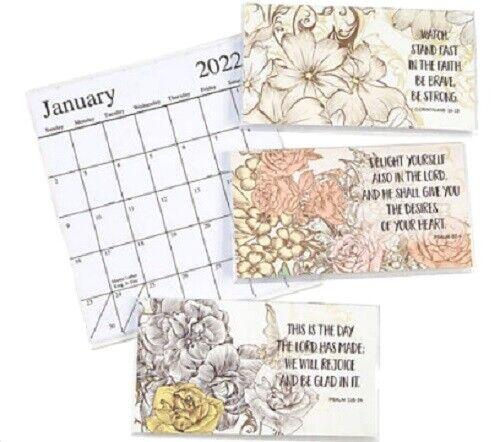 2022-2023 Scripture 2 Year Planner Pocket Calendar *FREE SHIPPING*