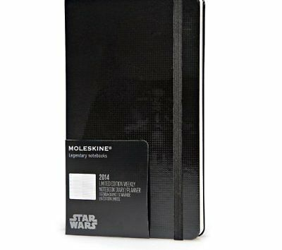 Moleskine 2014 Star Wars Limited Edition Weekly Planner 12 Month Black Hard