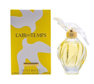 L'AIR DU TEMPS * Nina Ricci * Perfume for Women * 3.3 / 3.4 oz BRAND NEW IN BOX