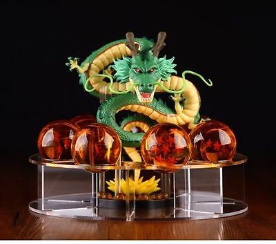 New JP Anime Dragon Ball Z Stars Crystal & Dragon Shenlong & Display Bracket