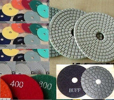 5 125mm Polishing Pad 30 Piece 3 Sealer Buff Granite Concrete Travertine Marble