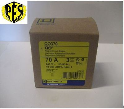New In Box Square D Qo370 3 Phase 3 Pole 70 Amp Qo Breaker Best Deal Fits Nq Pa