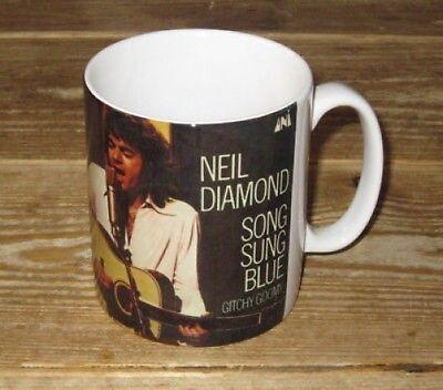 Neil Diamond Lied Sung Blau Werbe BECHER Diamond Becher