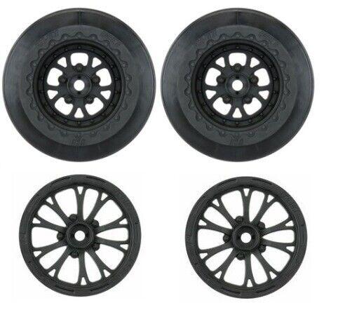 Pro-Line Pomona Set of 4 Drag Front Rear Wheels 12mm Hex PRO277603 PRO277503