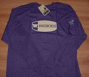 Washington Huskies T Shirt Adult Small Long Sleeve Reebok
