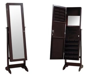 White ~4ft Jewelry Cabinet