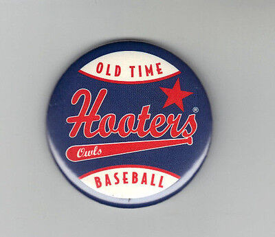 OLD TIME Hooters Owls Baseball Pinback Button