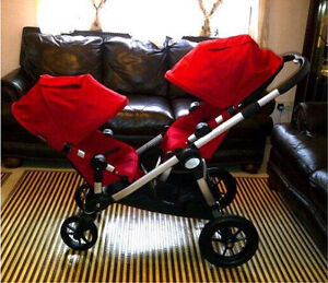 Red ruby city select double stroller for sale