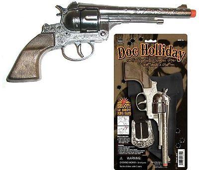 replica DOC HOLLIDAY Pistol/revolver Cowboy western Holster/Belt New Toy CAP GUN
