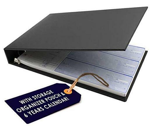 Professional Business Check Book Binder 7 Ring Fits Durable Quality 600 Checks