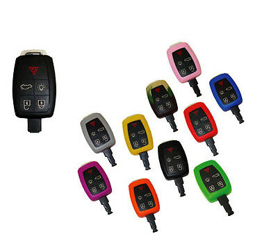 Key Fob Cover Jacket Silicon Blue Black Pink Red Purple Red fits Volvo 08-12