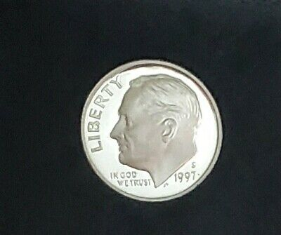 1997 S Silver Roosevelt Dime~Gem Proof~From  Original U.S. Mint Silver Proof Set Mint Set Roosevelt Dime