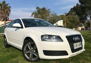 2008 Audi A3 8P MY09 Attraction Sportback S tronic White 7 Speed Sports Automatic Dual Clutch Somerton Park Holdfast Bay Preview