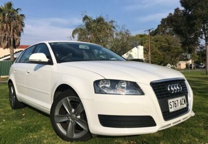 2008 Audi A3 8P MY09 Attraction Sportback S tronic White 7 Speed Sports Automatic Dual Clutch