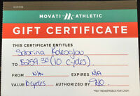 Movati Gift Certificate - Value $259.30 for only $190