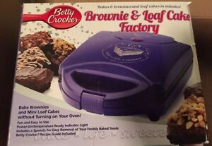 Betty crocker chocolate and loaf cake maker