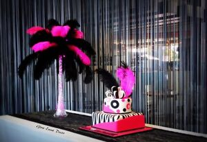 Ostrich Feather Table Centrepieces decorations for hire Woodcroft Morphett Vale Area Preview