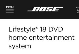BOSE Life Style 18 Home Theatre Syrem
