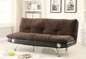 Sofa Bed with Built-In Bluetooth Speakers