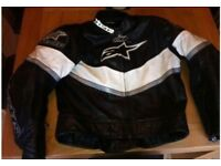 Alpinestars leather jacket small 40""