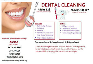 Cheap dental  cleaning $32