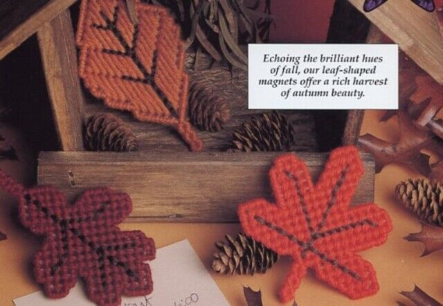 Autumn Leaves /& Tulip Time Magnets Plastic Canvas PATTERN INSTRUCTIONS//NEW