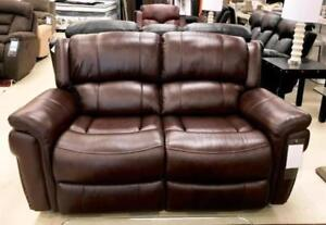 REAL LEATHER RECLINER SOFA SETS ON SALE  (ND 110)
