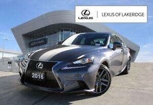 2016 Lexus IS 300 AWD, F Sport 2, No Accidents, Navi, Blind Spot
