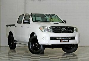 2011 Toyota Hilux KUN26R SR White 4 Speed Automatic Dual Cab Burleigh Heads Gold Coast South Preview