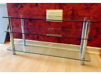 Glass three piece table very heavy