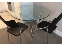 Glass Table & 2 Chairs