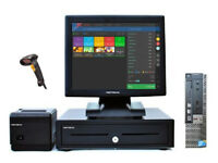 Complete Touchscreen Dell Retail and Hospitality EPOS POS Cash Register Till System