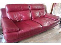 Harveys Genoa Leather Sofa - 2 + 3 Seater