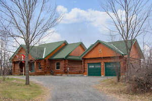 SOLD LOG HOME LANARK ONTARIO ACREAGE 2423 HWY 511 $379,000