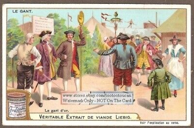 Golden Glove Gant D' Or Symbol In England  Goldene Handschuh c1903Trade Ad Card