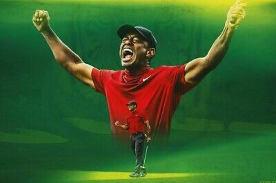 TIGER WOODS Poster G.O.A.T Goat Greatest All Time [24 x 36] Inch 3