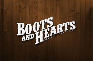 2 boots general admission and 1 rv pass