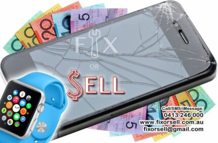 GET CASH *NOW* FOR YOUR BROKEN/PERFECT IPHONE, APPLE WATCH, IPAD West Perth Perth City Preview