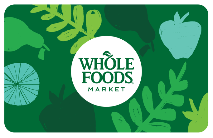 100 Whole Foods Gift Card FREE SHIPPING  - $95.00