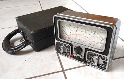 Vintage Ac Volt Meter Electrical Tester With Wood Case Pha Stron Co Model 555