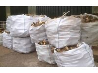 Hardword logs, 1ton bulk bag of beech, ash and oak all dry and well seasoned.