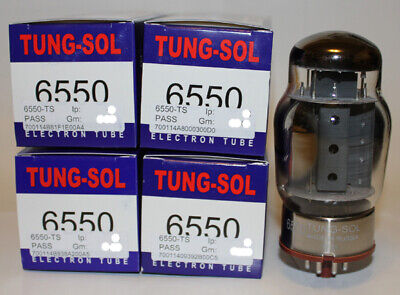 Factory Platinum Matched Quad Tung Sol 6550 tubes, Brand New in Box !