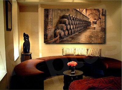 Wine Cellar Barrels Canvas Fine Art Print Home Wall Decor