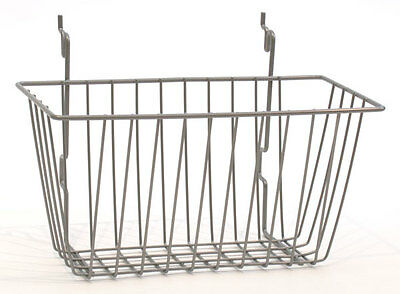 New Powder Coat Chrome Basket Fits Slatwallgridpegboard 12w X 6d X 6h