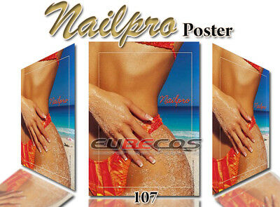 Poster Nailpro Hochglanz EuBeCos Werbeplakat Naildeko Nagel Sommer Motiv Nr. 107