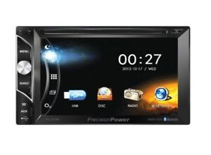"PrecisionPower 2-DIN Bluetooth 6.2"" LCD Touch Screen Car Stereo"