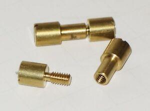 Two Brass Corby Knife Making Rivets Standard Miniature