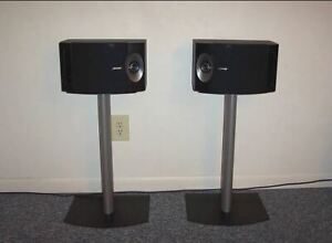 Bose 201V series 5 bookshelf speakers and stands